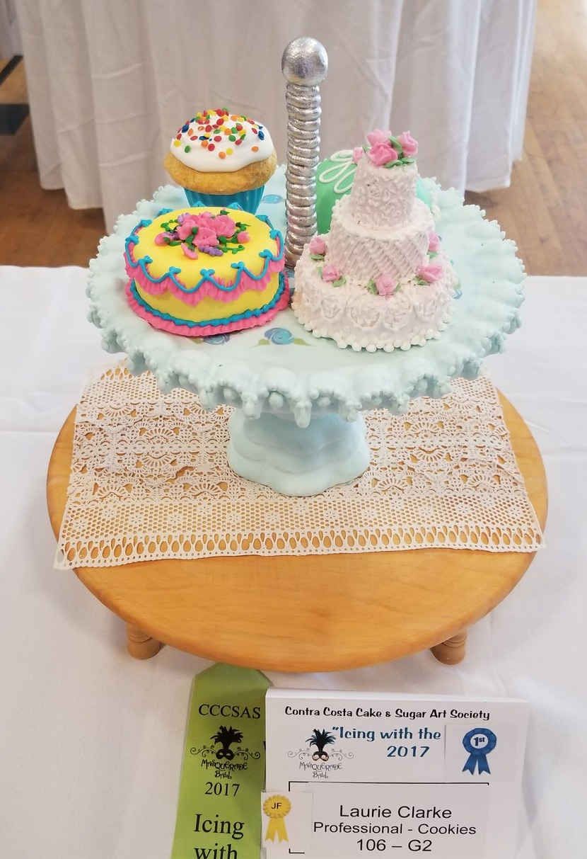 Edible Cake Pedestal And Cookies Masquerading As Cakes By XLaurieClarkex